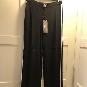 Wide leg dual side split pant